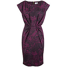 Buy Closet Turn Up Sleeve Dress, Purple Online at johnlewis.com