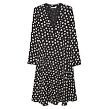 Buy Mango Flowy Print Dress, Navy Online at johnlewis.com