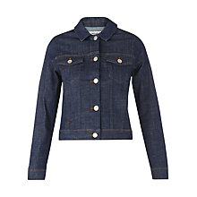 Buy Whistles Raw Denim Jacket, Indigo Online at johnlewis.com