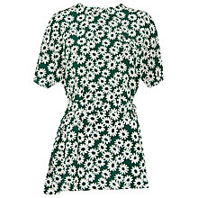 Buy Whistles Daisy Print Tunic Dress, Green/Multi Online at johnlewis.com