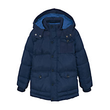 Buy Mango Kids Boys' Quilt Coat, Navy Online at johnlewis.com
