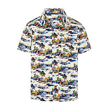 Buy John Lewis Boys' Short Sleeve Vintage Print Shirt, Multi Online at johnlewis.com