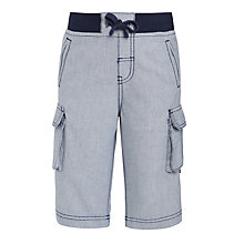 Buy John Lewis Boys' Roll Up Oxford Cargo Shorts, Grey Online at johnlewis.com