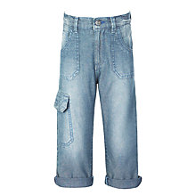 Buy John Lewis Boys' Three Quarter Denim Trousers, Blue Online at johnlewis.com