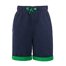 Buy John Lewis Boys' Turn-Up Jersey Shorts, Navy Online at johnlewis.com
