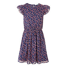 Buy John Lewis Girls' Floral Print Tea Dress, Blue Multi Online at johnlewis.com
