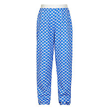 Buy John Lewis Girls' Geometric Print Loose Fit Trousers, Blue Online at johnlewis.com