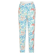 Buy John Lewis Girls' Floral Loose Fit Trousers, White/Multi Online at johnlewis.com