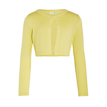 Buy John Lewis Girls' Shrug Cardigan, Yellow Online at johnlewis.com