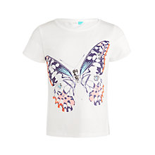 Buy John Lewis Girls' Butterfly Print T-Shirt, White Online at johnlewis.com