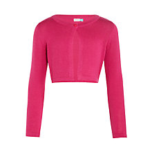 Buy John Lewis Girls' Shrug Cardigan, Pink Online at johnlewis.com