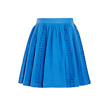 Buy John Lewis Girls' Crochet Panel Skirt, Blue Online at johnlewis.com