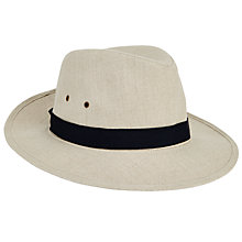 Buy John Lewis Linen Ambassador Trilby Hat, Natural Online at johnlewis.com