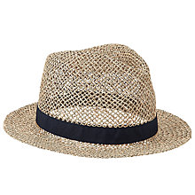 Buy John Lewis Seagrass Trilby Hat, Natural Online at johnlewis.com