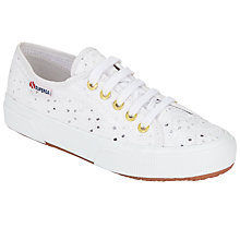 Buy Superga 2750 Sangallo Donna Plimsolls, White Online at johnlewis.com