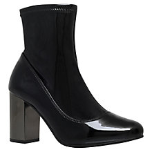 Buy KG by Kurt Geiger Rolo Block Heeled Ankle Boots, Black Online at johnlewis.com