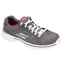 Buy Skechers Go Walk 3 FitKnit Trainers, Grey Online at johnlewis.com