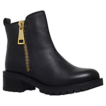 Buy KG by Kurt Geiger Rocket Block Heeled Ankle Boots, Black Leather Online at johnlewis.com