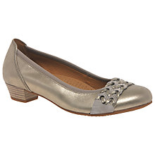 Buy Gabor Lyon Wide Fitting Block Heeled Pumps Online at johnlewis.com