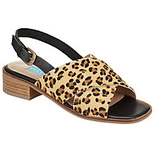Buy Collection WEEKEND by John Lewis Labaeum Cross Strap Sandals, Leopard Online at johnlewis.com