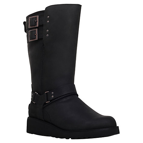 black leather ugg boots with buckle