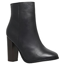 Buy KG by Kurt Geiger Sunset Block Heeled Ankle Boots, Black Leather Online at johnlewis.com