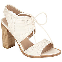 Buy Collection WEEKEND by John Lewis Issigeac Block Heeled Sandals, Cream Online at johnlewis.com