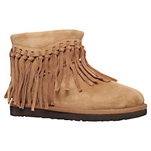 Buy UGG Wynona Fringe Detail Ankle Boots, Brown Suede Online at johnlewis.com