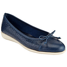Buy John Lewis Designed for Comfort Harrier Pumps, Navy Leather Online at johnlewis.com