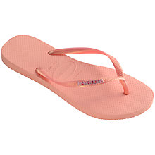 Buy Havaianas Slim Logo Flip Flops Online at johnlewis.com