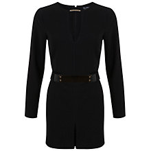 Buy Miss Selfridge Belted Playsuit, Black Online at johnlewis.com