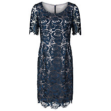 Buy Jacques Vert Petite Lace Dress, Dark Blue Online at johnlewis.com