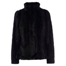 Buy Coast Zurich Faux Fur Coat, Black Online at johnlewis.com