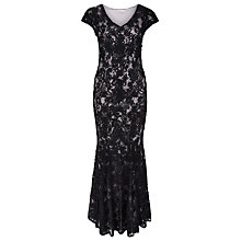 Buy Jacques Vert Petite Cornelli Lace Maxi Dress, Dark Blue Online at johnlewis.com