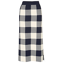 Buy Whistles Clark Knit Skirt, Blue/Multi Online at johnlewis.com