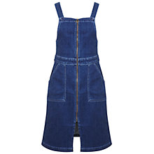 Buy Miss Selfridge Zip Dress, Mid Wash Denim Online at johnlewis.com