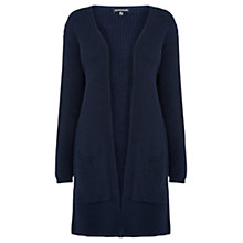 Buy Warehouse Ribbed Edge To Edge Cardigan, Navy Online at johnlewis.com