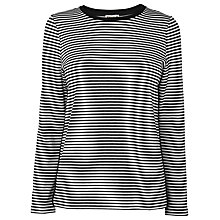Buy Whistles Stripe Bonded Sweat Top, Black/White Online at johnlewis.com
