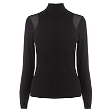 Buy Karen Millen Turtle Neck Knit, Black Online at johnlewis.com