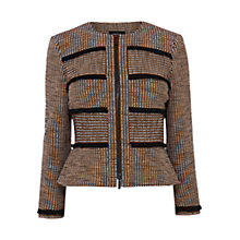 Buy Karen Millen Tweed Jacket, Black/Multi Online at johnlewis.com