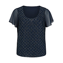 Buy Jacques Vert Petite Circle Embellished Blouse, Dark Blue Online at johnlewis.com