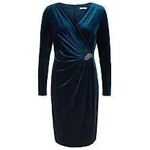Buy Jacques Vert Petite Velvet Dress, Dark Blue Online at johnlewis.com