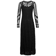 Buy Miss Selfridge Embroidered Maxi Dress, Black Online at johnlewis.com