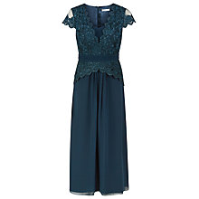 Buy Jacques Vert Petite Chiffon Lace Maxi Dress, Dark Blue Online at johnlewis.com
