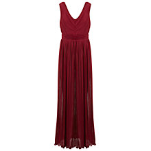 Buy Miss Selfridge Cut Out Pleated Maxi Dress, Red Online at johnlewis.com