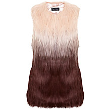 Buy Miss Selfridge Dip Dye Gilet, Pink Online at johnlewis.com
