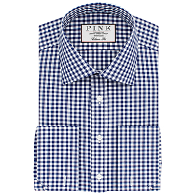 Image of Thomas Pink Summers Check Classic Fit XL Sleeve Double Cuff Shirt