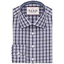 Buy Thomas Pink Mayberry Check Slim Fit Button Shirt, Purple/Navy Online at johnlewis.com