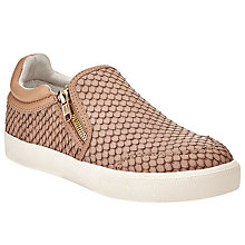 Buy Ash Intense Python Effect Slip On Trainers, Taupe Textured Leather Online at johnlewis.com