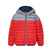 Buy Mango Kids Boys' Quilt Coat, Orange/Silver Online at johnlewis.com